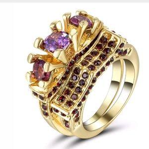 Jewelry - GORGEOUS WEDDING RING SET SIZE 8